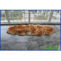 China long wool sheepskin rugs with tipping beige on sale