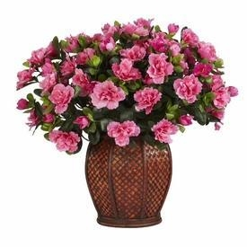 Quality Azalea with Vase Silk Plant for sale