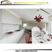 China New Kitchen Cabinet Corian bar Luxury designer white indoor corian kitchen cabinet- STKC-108 wholesale