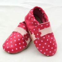 China Infant footwear sale online Leather Baby Booties red leather baby shoes for Mary Jane ShoesBBLB0875 on sale