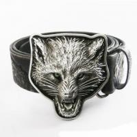 Buy cheap Western Wolf Head Embossed Real Leather Belt from wholesalers