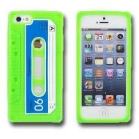 China Green cassette retro tape soft silicone phone case for iphone5 wholesale