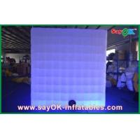 China LED Lighting Safe Inflatable Photo Booth Huge Square For Promotion wholesale