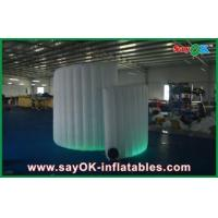 China Commerical Led Inflatable Photo Booth , Foldable Spiral Inflatable Photobooth wholesale