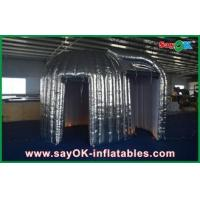 China Custom Made Silvery Led Photobooth Inflatable Advertising Tent For Rental wholesale