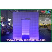 China Advertisement Inflatable Blow Up Photo Booth Led Cube 210d Oxford Cloth wholesale