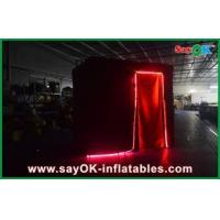 China Black Photobooth Inflatable Advertising Tent Lead Free Durable wholesale