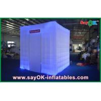 China Beautiful Cube Inflatable Photo Booth Logo For Outdoor Clubs wholesale