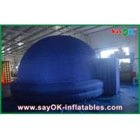 China Dia 5m Blue Inflatable Planetarium Dome Tent Watching Movie Use wholesale