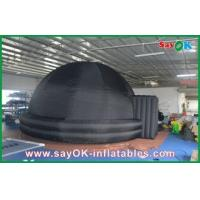 China Portable Inflatable Planetarium , 210D Oxford Cloth Black Inflatable Dome Tent wholesale