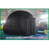 China Mobile 5m Giant Black Inflatable Planetarium For Schools / Air Dome Tent wholesale