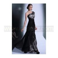 China One shoulder black cocktail dress & formal party evening dress wholesale