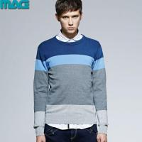China Men men pullover striped knitted sweater wholesale