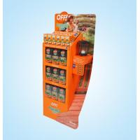 Buy cheap Custom Foldable cardboard floor display shelf for supermarket retail from wholesalers