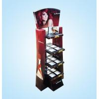 Buy cheap Dazzling lipstick cosmetic cardboard display shelf for sale from wholesalers