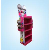 Quality Cardboard candy display shelf with side pocket for sale