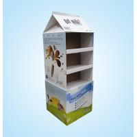 Quality New design milkbox shape 3 tiers custom cardboard display stand for sale