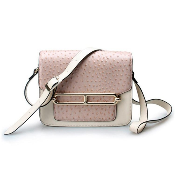 Quality Good quality low price ostrich cow leather small cell phone single shoulder bag for girls for sale
