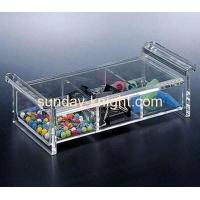 China Acrylic display case with two divider DBK-004 wholesale