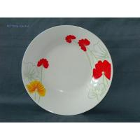 China WSY133D Round Porcelain White Decal Dinner Plate(WSY133D) wholesale