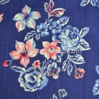 China 100%cotton printed slub fabric wholesale