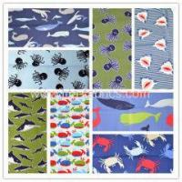 Buy cheap 100%cotton Series of marine animals printed plain weave fabric from wholesalers