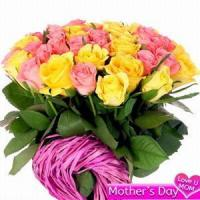 Buy cheap Pink and Yellow Roses NO.31 shanghai flower delivery from wholesalers
