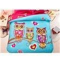 Buy cheap Family of Little Owls Print 4-Piece Natural Cotton Duvet Cover Sets from wholesalers