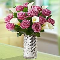 Buy cheap Enchanted Purple Rose & Calla Lily NO.56 deliver flower to shang from wholesalers