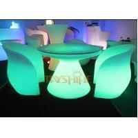 China Durable PE LED Glow Furniture , Led Bar Chairs and Tables With Rechargeable Battery wholesale