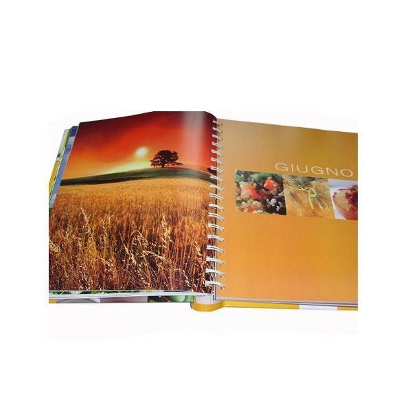 Quality custom coloring spiral binding hardcover book printing for sale