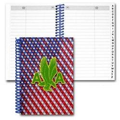 Quality Lenticular address book with patriotic stars and stripes, color changing for sale