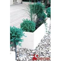 China GRC rectangle white cement planters wholesale