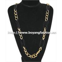 China Necklace wholesale alumium chain black seedbeads handmade fashion jewelry necklace on sale
