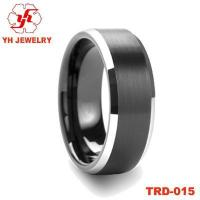 China Tungsten carbide ring tungsten jewelry tungsten electroplate ring TRD-015 on sale