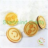 China engrave wood shapes veneer chip pieces wholesale