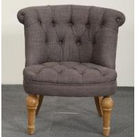 China Hot Sales Antique Wood French Style Button Upholstered Children Leisure Chair wholesale