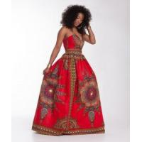 Buy cheap African Wax Sweatheart Maxi Dress 21453 from wholesalers