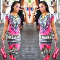 Buy cheap Dashiki Pink Two-Piece Set 21463 from wholesalers