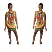 Buy cheap Dashiki Yellow Bodycon Dress 21461-6 from wholesalers