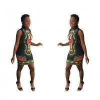 Buy cheap Dashiki Black Bodycon Dress 21461-1 from wholesalers
