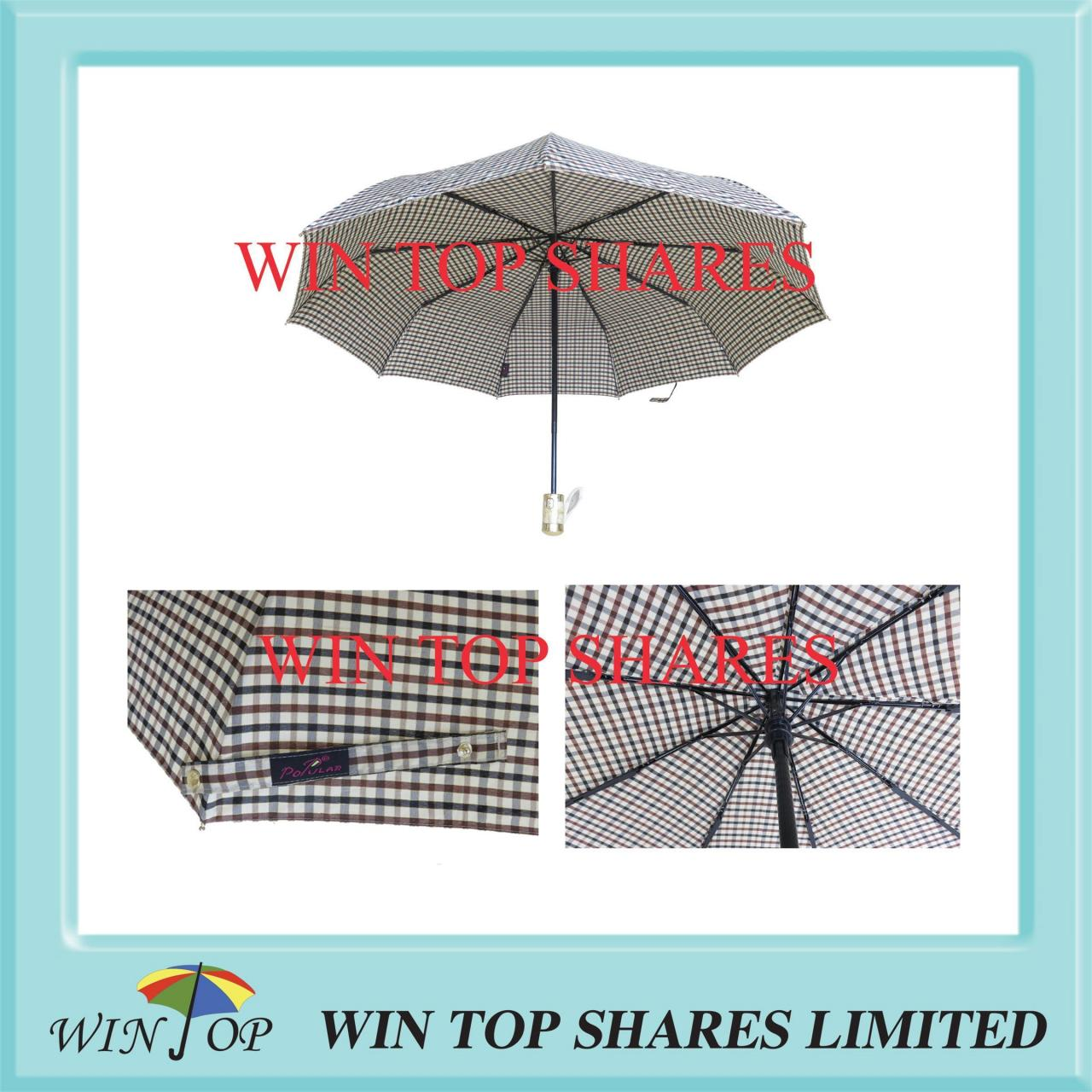 Buy cheap Gold glitter yarn England Burberry design full automatic umbrella from wholesalers