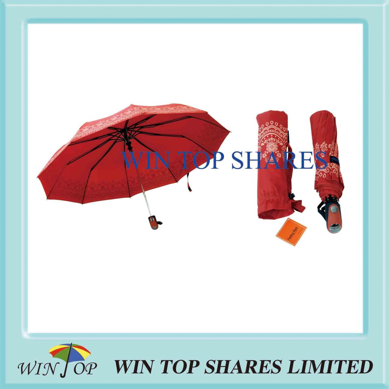 Buy cheap Orange Pongee Classical Full Automatic Umbrella from wholesalers