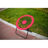China Bungee Folding Moon Chair Red wholesale