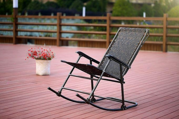 Quality Folding Rocking Chair Outdoor Chair Testilene with Canopy for sale