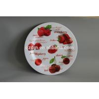 China Strawberry Print melamine round dinner plate wholesale