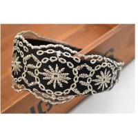 Buy cheap Hollow Flower Lace Wide Headband Headband Hair Band from wholesalers