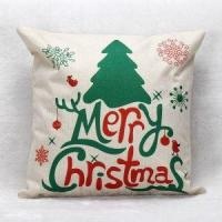 China Colorful Christmas Printing Linen Cushion Transfer Printing Cushion Cover wholesale