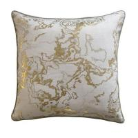China 100%Cotton slub foil screen print cushion cover wholesale