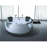 China Heart Shaped Whirlpool Massage Jets Bathtub with Pillow on sale